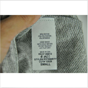 Caution To The Wind Tops - Caution to the wind grey bell sleeve top sz small